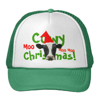 Cowy Christmas Funny Santa Cow Hat