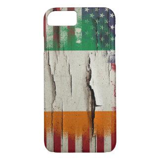Crackle Paint | Irish American Flag iPhone 7 Case
