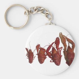 crawfish cell phone signal basic round button key ring