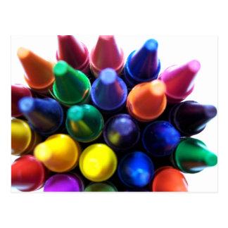 Crayons! Postcard