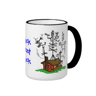 Crazy Antenna Ham Radio Home Coffee Mug