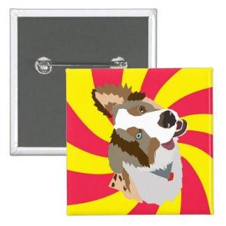 Crazy Aussie 15 Cm Square Badge