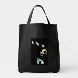 Crazy Bikers in the Dark! Grocery Tote Bag