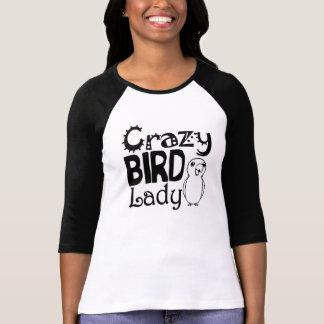 Crazy bird lady tee shirt