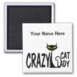 Crazy Cat Lady Square Magnet