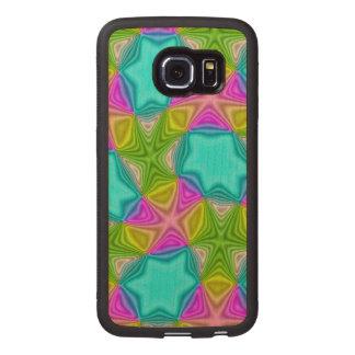 Crazy Color pattern Wood Phone Case