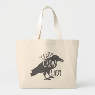 Crazy Crow Lady Jumbo Tote Bag
