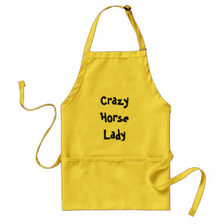 Crazy Horse Lady Standard Apron
