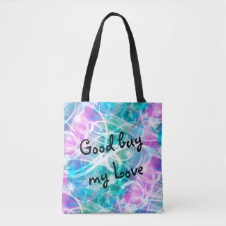 Crazy Lights seamless background colored Tote Bag