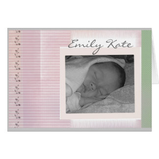 Create your own baby announcements greeting card