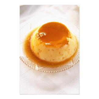 Creme caramel type of pudding with caramel art photo