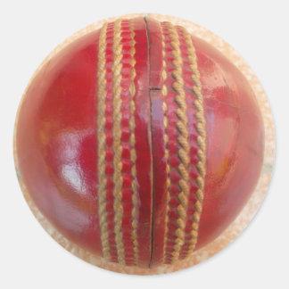 Cricket Ball.jpg Round Sticker