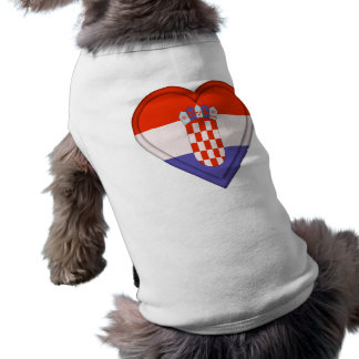Croatia Croat Flag Sleeveless Dog Shirt