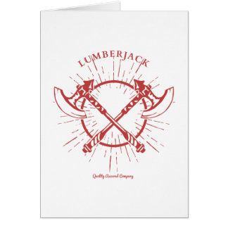Crossed Axes Lumberjack Graphic Tee Greeting Card