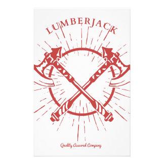 Crossed Axes Lumberjack Graphic Tee Personalised Stationery