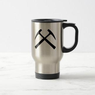 Crossed Rock Hammers Stainless Steel Travel Mug