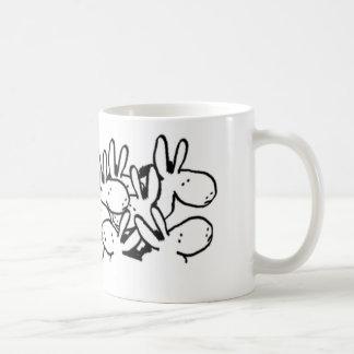 crowd of donkeys basic white mug