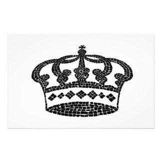 Crown graphic design custom stationery