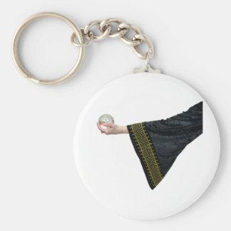 CrystalBallGypsy032109 Basic Round Button Key Ring