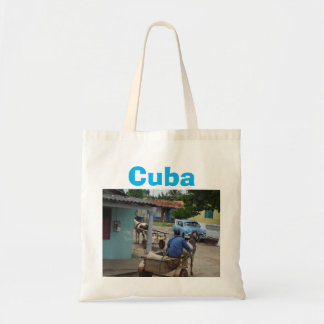 Cuba Old Car Country Scene Budget Tote Bag