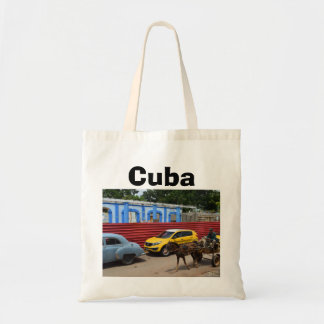Cuba Vintage Cars Horse and Buggy Budget Tote Bag