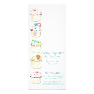 Cupcake Dessert Baking Bakery Business Identity Rack Card Design