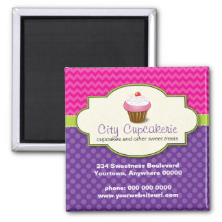 Cupcake Shop Promotional Magnet