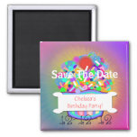 Cupcake With Sprinkles Save The Date Square Magnet
