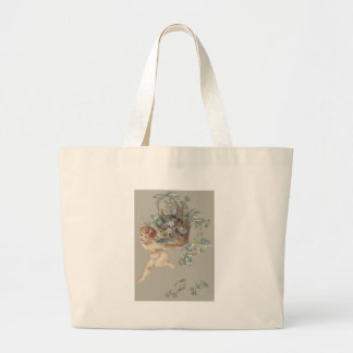 Cupid Cherub Angel Forget-Me-Not Jumbo Tote Bag