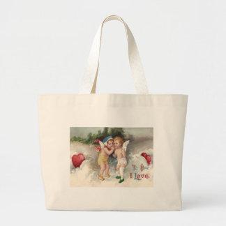 Cupid Heart Snow Cherub Angel Jumbo Tote Bag