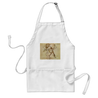 Cupid with a Violin by Campagnola, Renaissance Art Standard Apron