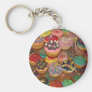 Cuppy cakes basic round button key ring