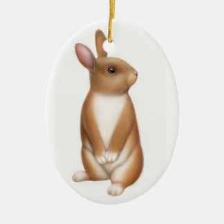 Curious Bunny Rabbit Holiday Ornament