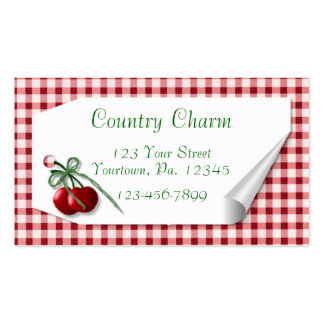 Curl Tag Cherries Business Card