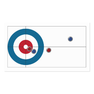 Curling house and rocks business cards