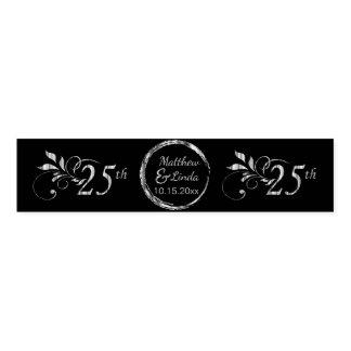 Custom 25th Wedding Anniversary Napkin Band