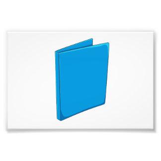 Custom Blue Binder Folder Greeting Playing Cards Photo Print