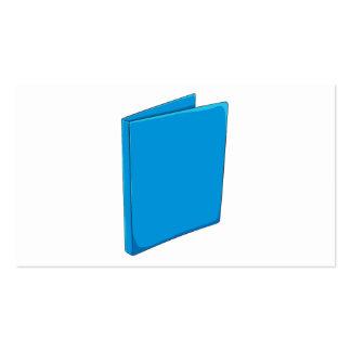 Custom Blue Binder Folder Invitation Postage Label Pack Of Standard Business Cards