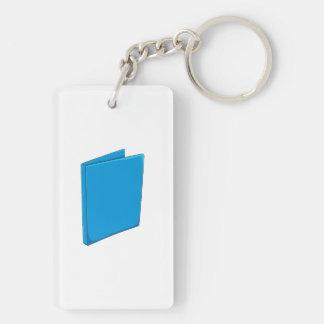 Custom Blue Binder Folder Mugs Hats Buttons Pins Double-Sided Rectangular Acrylic Key Ring