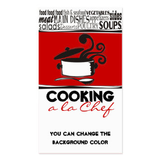 Custom color cooking pot curling steam chef card pack of standard business cards