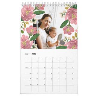Custom Floral Calendar
