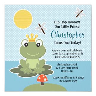 Custom Frog Birthday Invitation