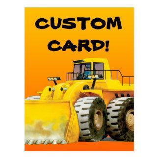 Custom Kid's Digger Postcard