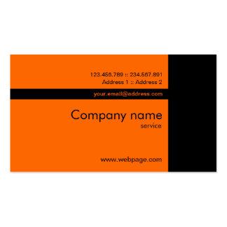 Custom orange black Business Card