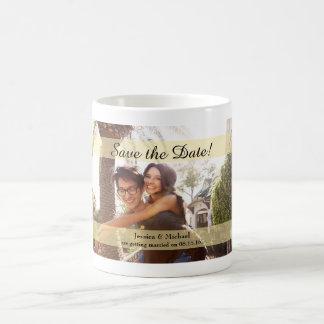 Custom Photo Wedding Save the Date Basic White Mug