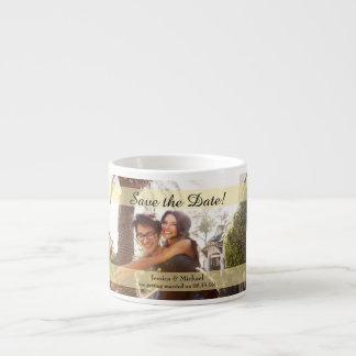 Custom Photo Wedding Save the Date Espresso Mug
