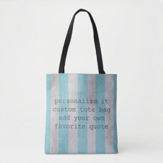 custom quote tote bag add your quote shabby chic