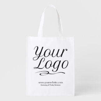 Custom Reusable Grocery Bag Promotional Logo