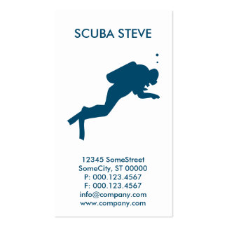 custom scuba diver business pack of standard business cards