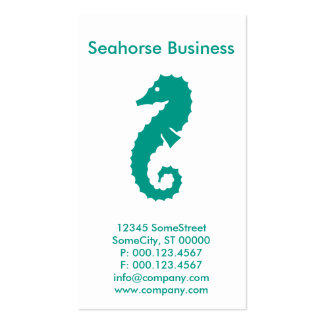 custom seahorse business pack of standard business cards